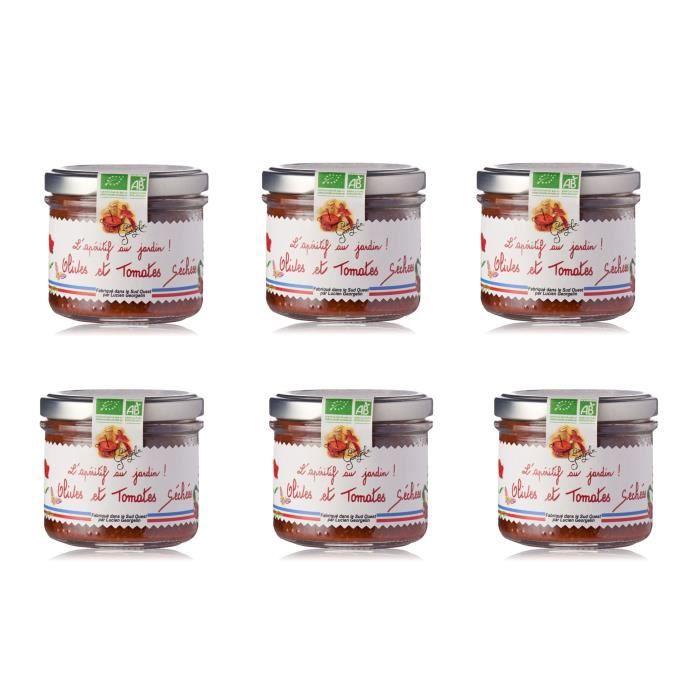 [LOT DE 6] LUCIEN GEORGELIN Spécialité à tartiner à base d'Olives et de Tomates Sèchées - BIO - 100 g