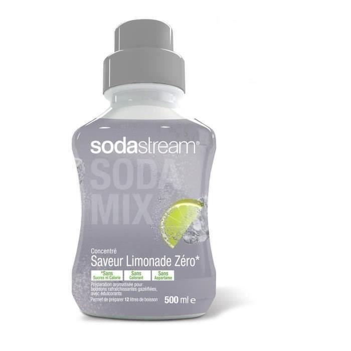 SODASTREAM Concentré saveur Limonade Zéro 500ml (Lot de 3)