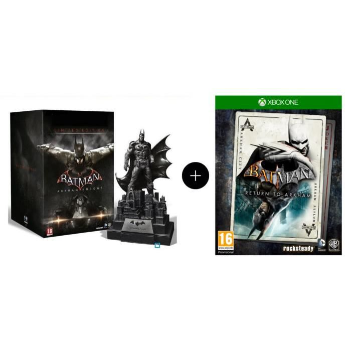 Pack de 2 Jeux Xbox One : Batman Arkham Knight Edition limitée + Batman : Return to Arkham