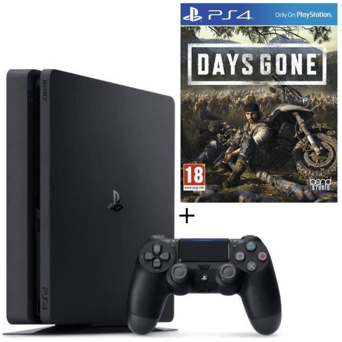 Console PS4 Slim 500Go Noire/Jet Black + Days Gone