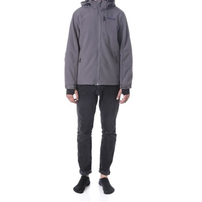NORTHLAND Softshell Homme Sybor - Contrecollé polaire - Gris anthracite