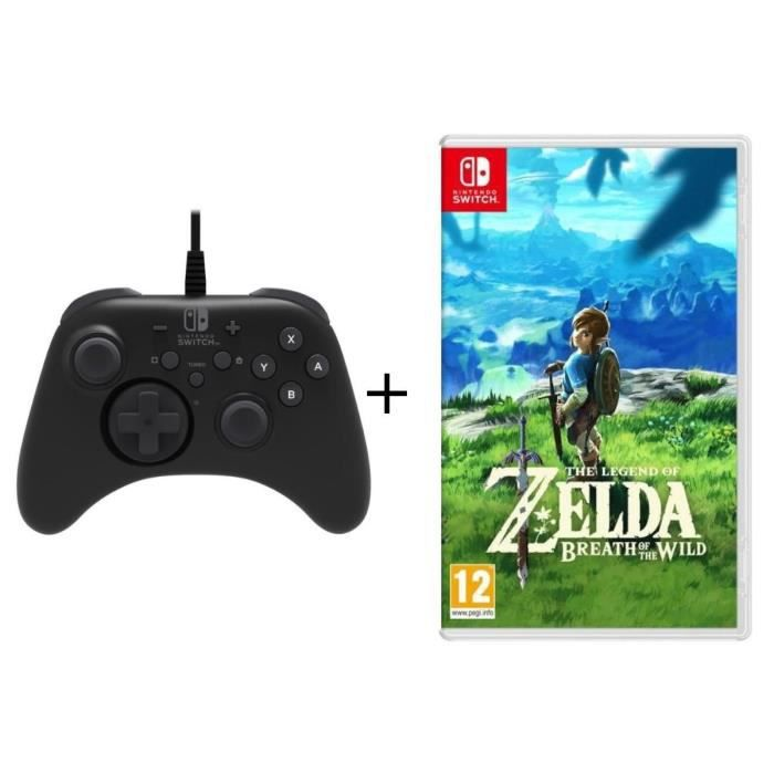 The Legend of Zelda : Breath of the Wild jeu Switch + Manette Pro Hori