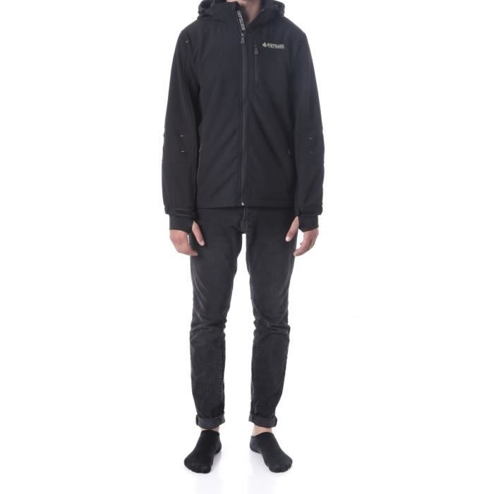 NORTHLAND Softshell Homme Sybor - Contrecollé polaire - Noir