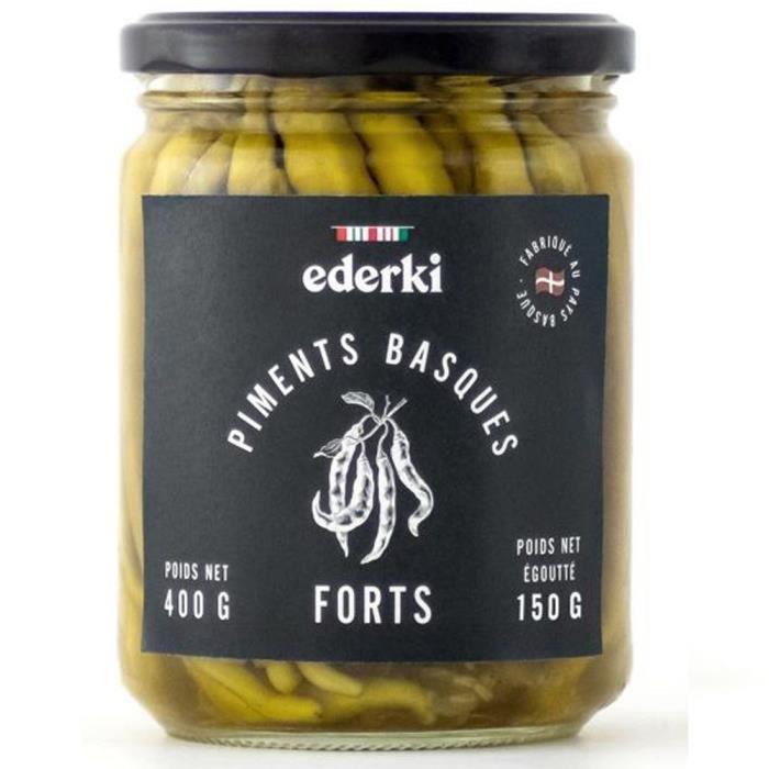 EDERKI Piments basques forts - 400 g