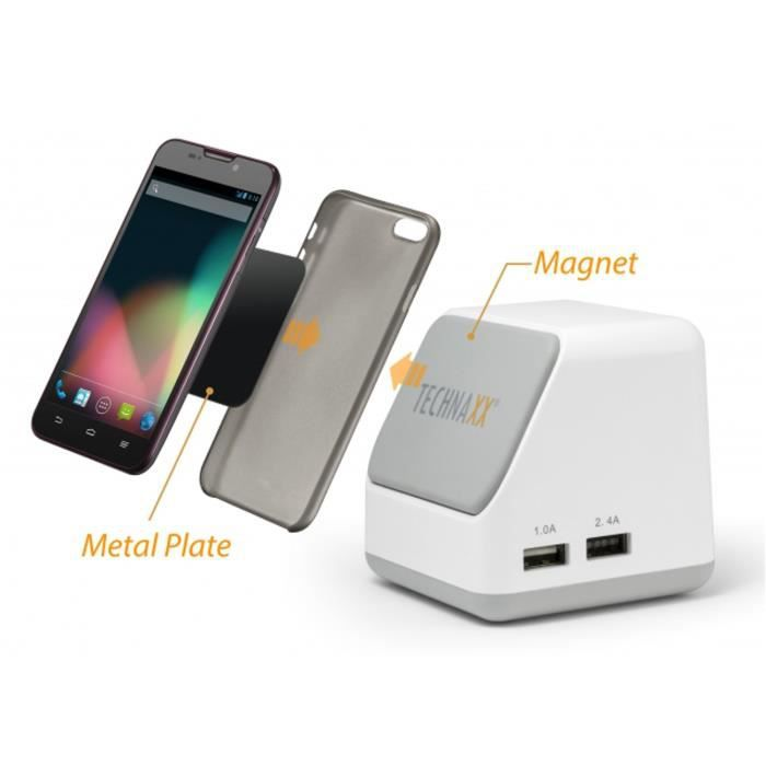 Technaxx Port USB Magnetic Smart Charger TE10