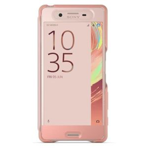 Sony Style Cover Touch Rose pour Xperia X