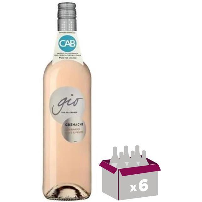 Gérard Bertrand Gio Grenache Rosé Pays d'Oc - Vin rosé du Languedoc-Roussillon - 4 achetées + 2 offertes