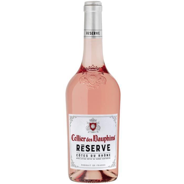 Cellier des Dauphins Réserve 2020 Côtes du Rhône - Vin rosé de la Vallée du Rhône