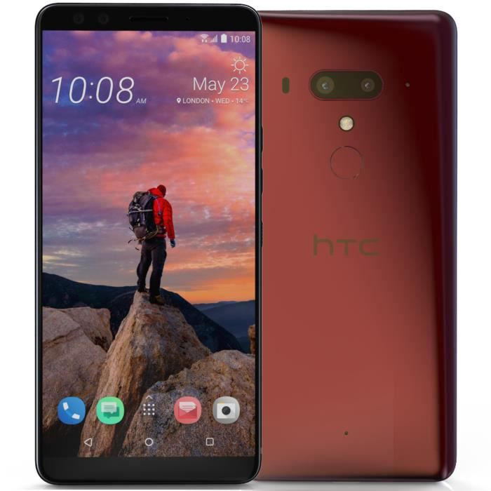 HTC U12+ - Double Sim - 64 Go - Dry Red Rose 64 Go