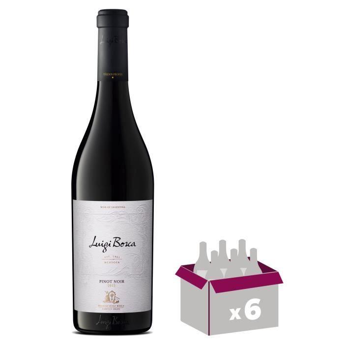LUNGI BOSCA Reserva Pinot Noir Vin d'Argentine - Rouge - 75 cl x 6