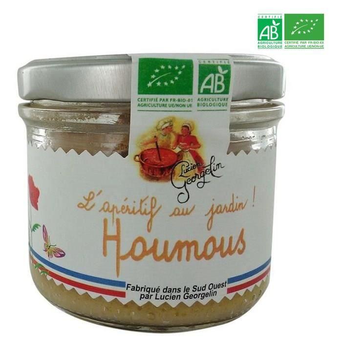 LUCIEN GEORGELIN Spécialité à tartiner à base de Pois Chiches - Houmous - BIO - 100 g