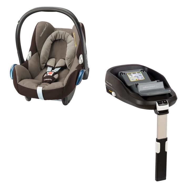BEBE CONFORT Siège auto Cabriofix + base Familyfix - Earth Brown