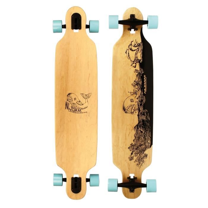 NIJDAM PRO-LINE Longboard Drop-through 42 pouces - Bleu