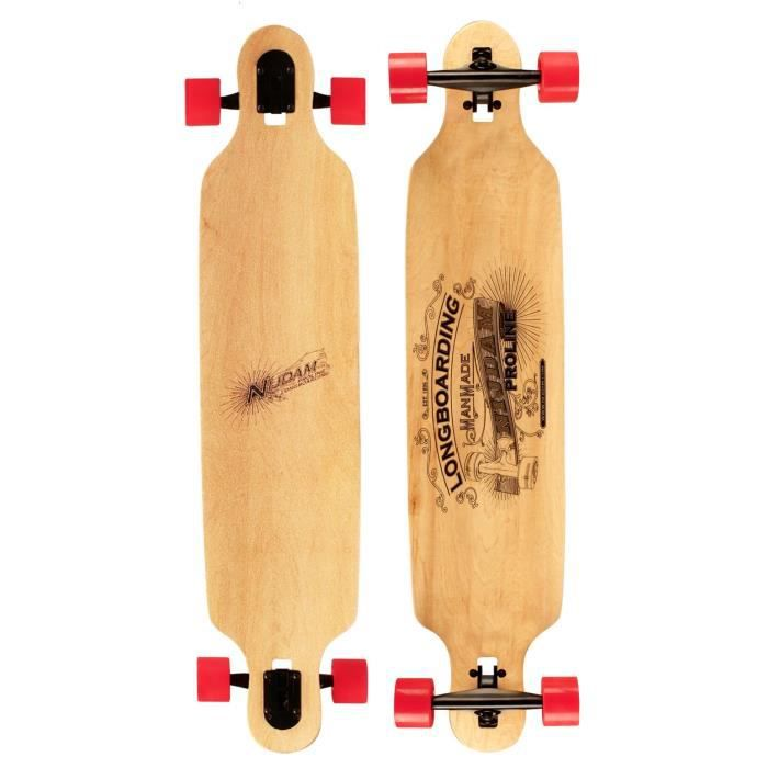 NIJDAM PRO-LINE Longboard Drop-through 42 pouces - Rouge