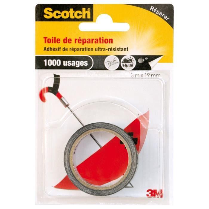 3M SCOTCH Toile adhésive de réparation - 3 m x 19 mm - Noir