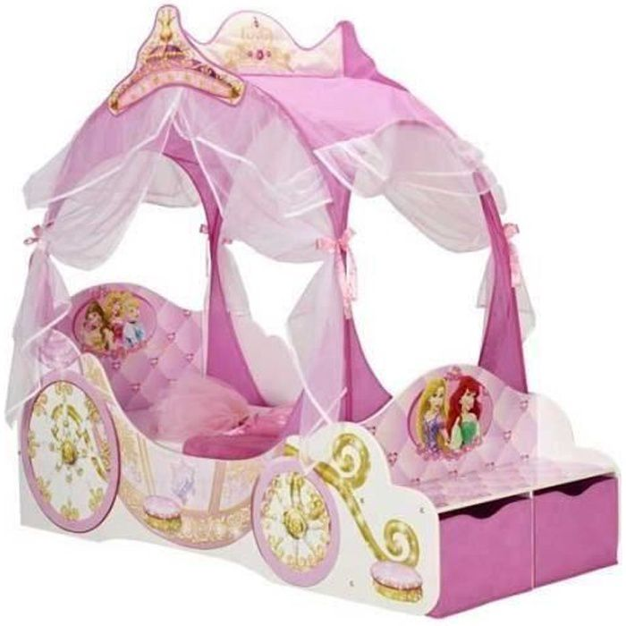 DISNEY PRINCESSES Lit Enfant Carrosse 70 x 140 cm