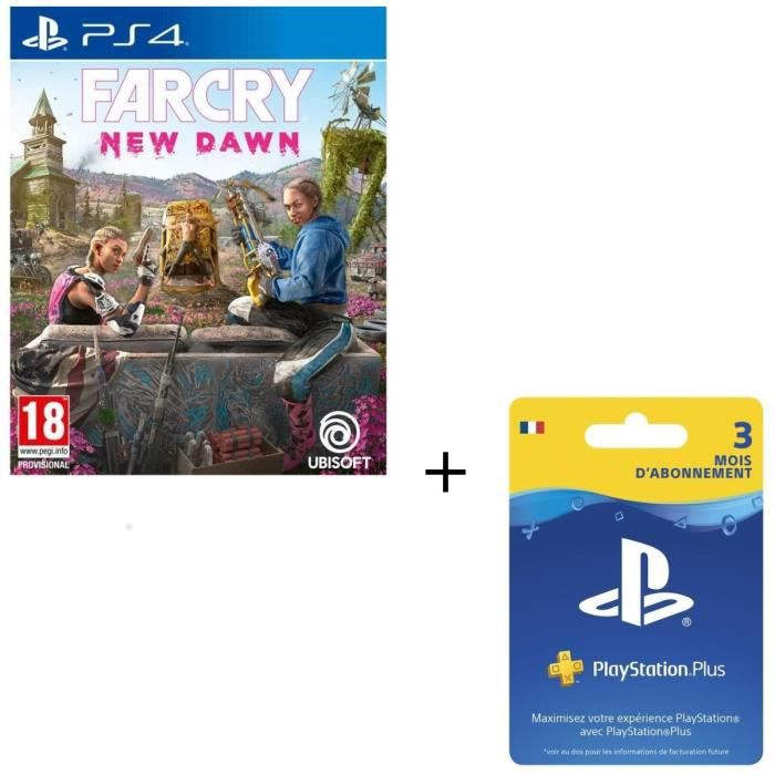 Pack PS4 : Far Cry New Dawn + Abonnement Playstation Plus 3 Mois