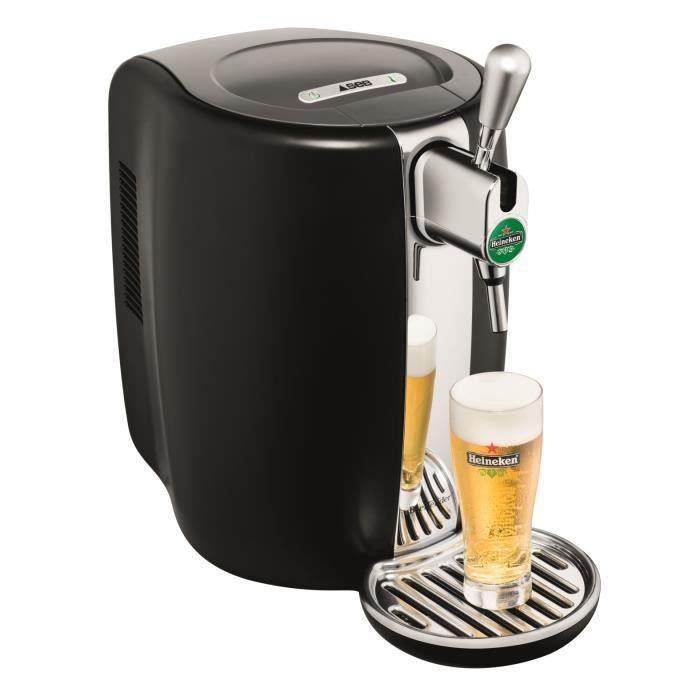 SEB VB310E10 Tireuse à bière Beertender - Compatible fûts 5 L - Noir / Chrome
