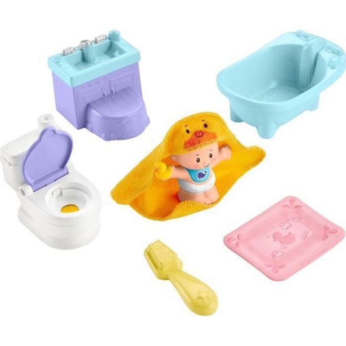 FISHER-PRICE Little People Babies L'heure du bain et du pot - de 18 mois à 5 ans