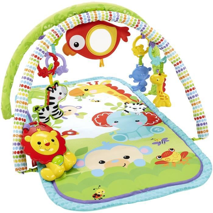 FISHER-PRICE - Tapis d'Eveil amis de la jungle 3 en 1