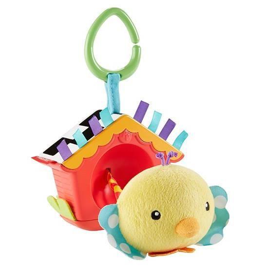 FISHER-PRICE - Mon Petit Oiseau Coucou - Hochet 2-en-1 - Dès la naissance