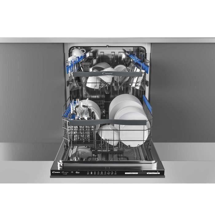 Lave-vaisselle encastrable CANDY CDIMN1D530PB/E - 15 couverts - Largeur 60 cm - 44dB - Noir