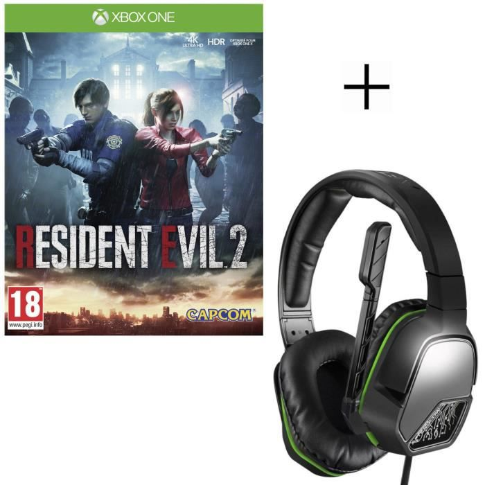 Resident Evil 2 Jeu Xbox One + Casque PDP Afterglow LVL3