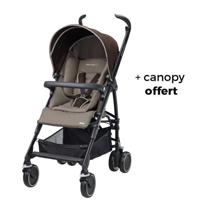 BEBE CONFORT poussette maia + canopy - earth brown