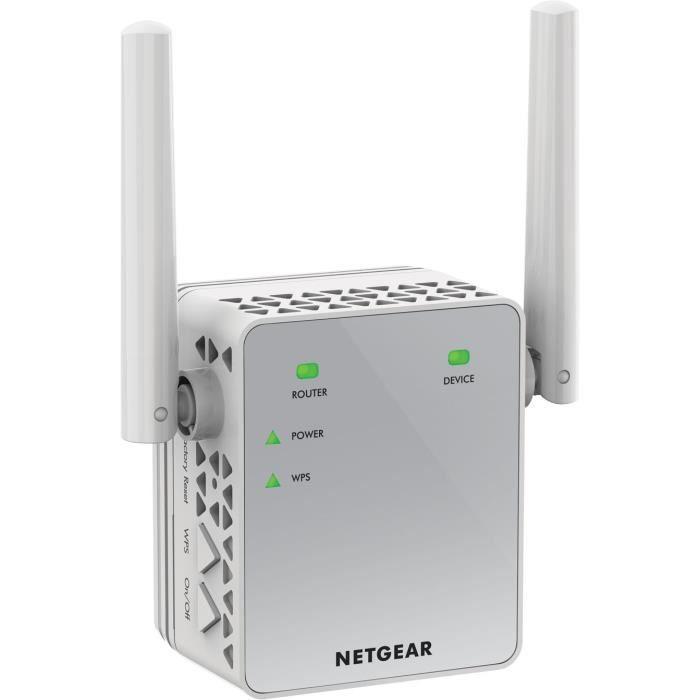 NETGEAR Répéteur Wi-Fi 750 Mbps AC750 EX3700-100PES