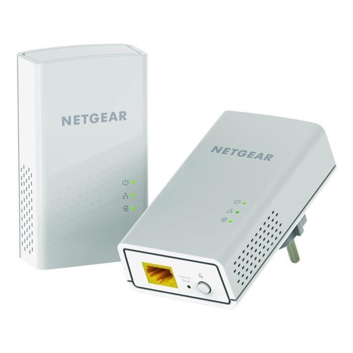 Netgear Pack de 2 Adaptateurs Cpl 1200 Mbps Blanc. Modèle Pl1200 100Pes