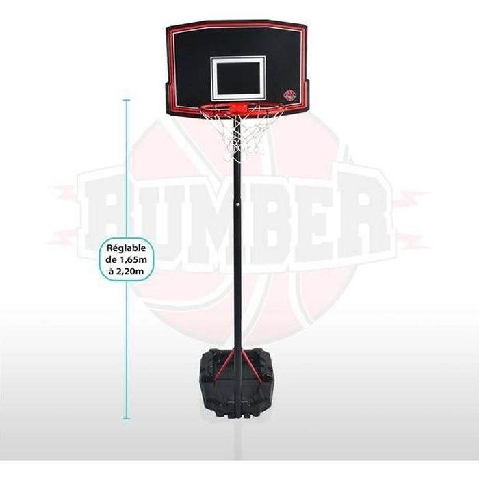 BUMBER Panier de Basket Phoenix réglable - 220cm Basketball
