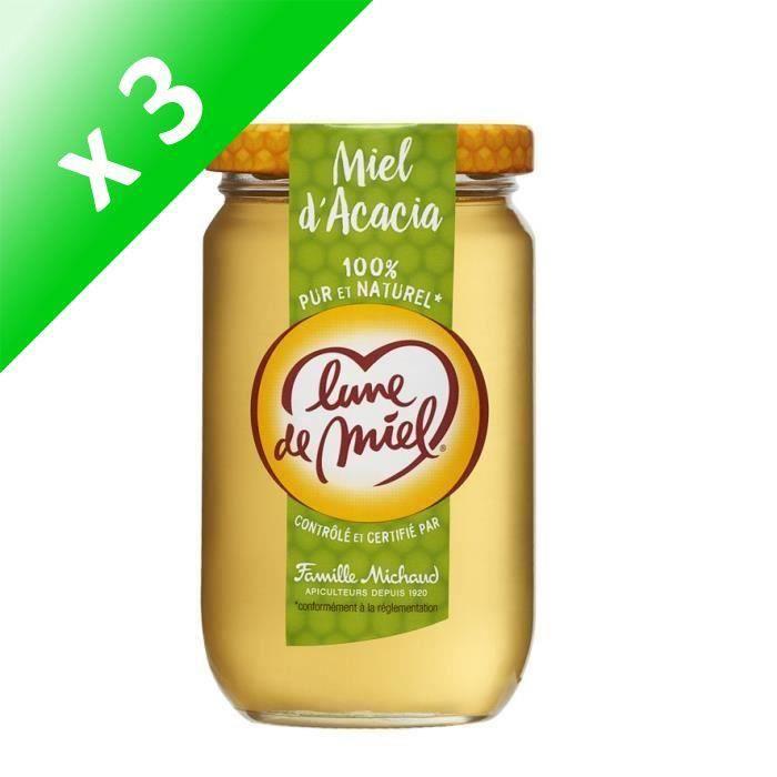 [LOT DE 3] LUNE DE MIEL Miel d'acacia - 375 g