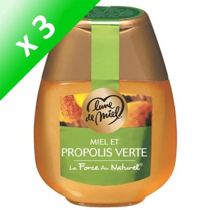[LOT DE 3] LUNE DE MIEL Miel et propolis - 250 g