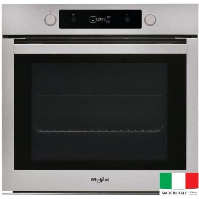 WHIRLPOOL OAKP 02406 PIX - Four électrique encastrable multifonction - Chaleur pulsée - 73L - Pyrolyse - A+ - Inox -Sonde de cuisson