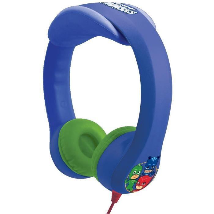 PYJAMASQUES Casque audio enfant LEXIBOOK - flexible et incassable
