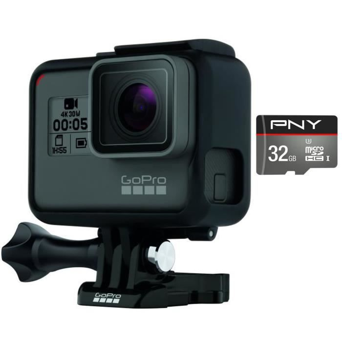 GOPRO HERO 5 Black Caméra de sport + PNY Carte Micro SD 32 Go U3 Turbo 100