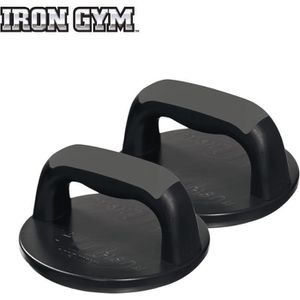 IRON GYM Accessoire de Musculation Rotating Push Up Pro Grips Crossfit