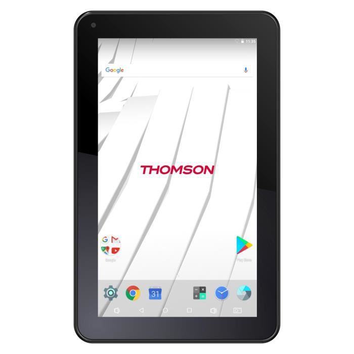 THOMSON Tablette Tactile - TEO7-RK1BK8 - 7- HD - 1 Go de RAM - Androïd 7.1 - Rockchip 3126 1,33 GHz - Stockage 8 Go - Wi-Fi