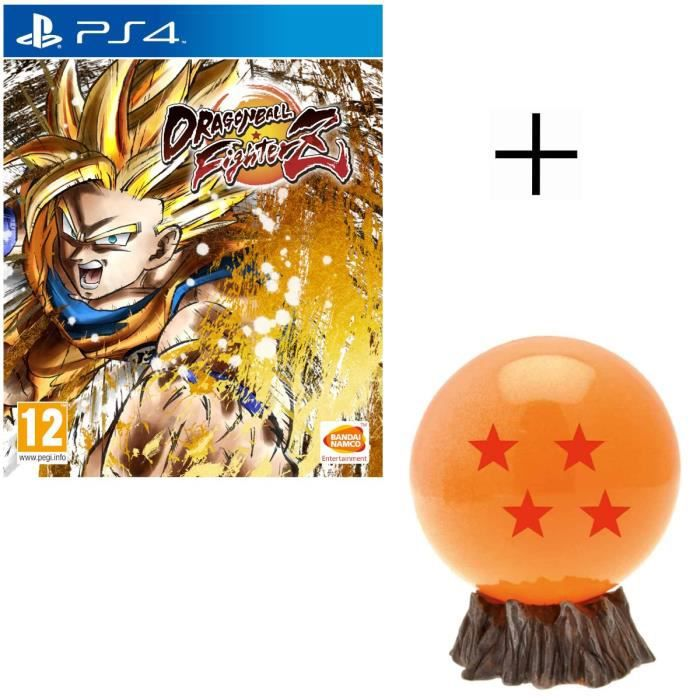 Pack Dragon Ball : Dragon Ball FighterZ Edition Standard Jeu PS4 + Mini-Tirelire DBZ - Boule de Cristal