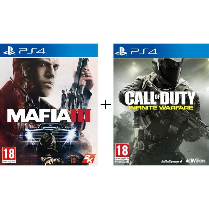 Pack de 2 jeux PS4 : Mafia III + Call of Duty : Infinite Warfare