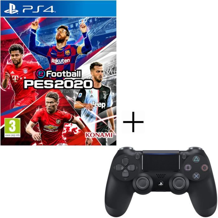 eFootball PES 2020 Jeu PS4 + Manette PS4 Dualshock 4 + Voucher Fortnite