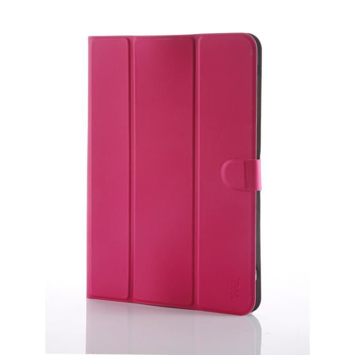 WE H-1050 Etui Universel Tablettes 9''/10'' Tpu 4 Attaches En Silicone Ajustables - Fushia