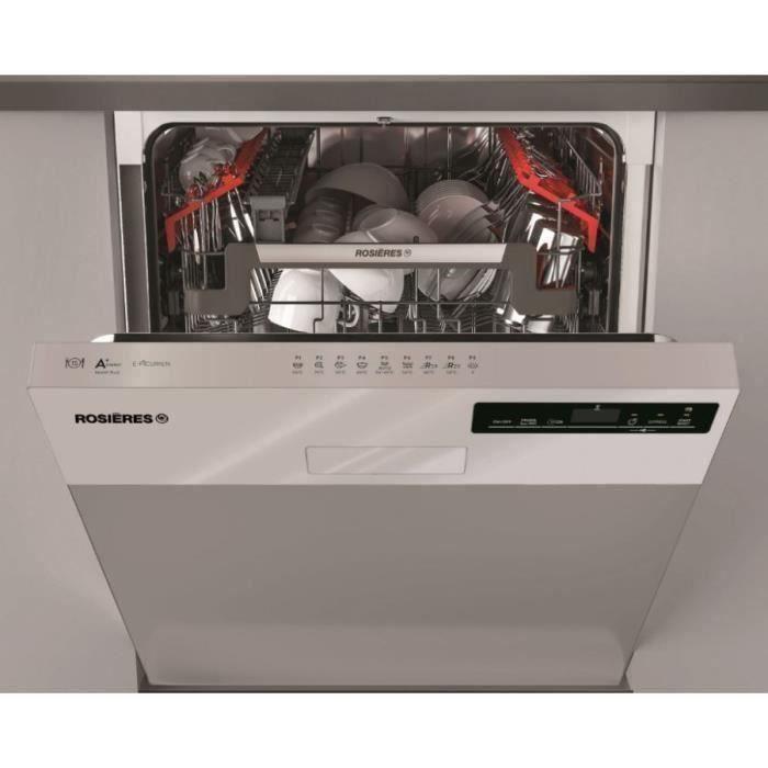 Lave-vaisselle encastrable ROSIERES RDSN 1D530PX-47E - 15 couverts - Largeur 60 cm - 44 dB - Inox