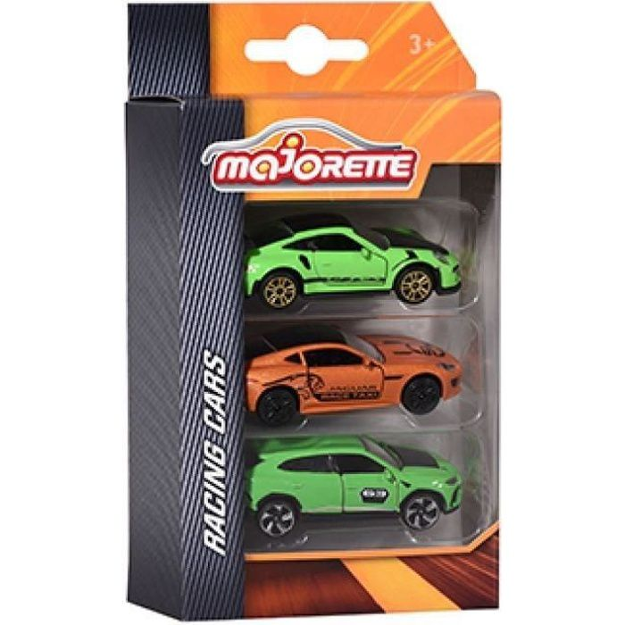 MAJORETTE Racing Set 3 Véhicules