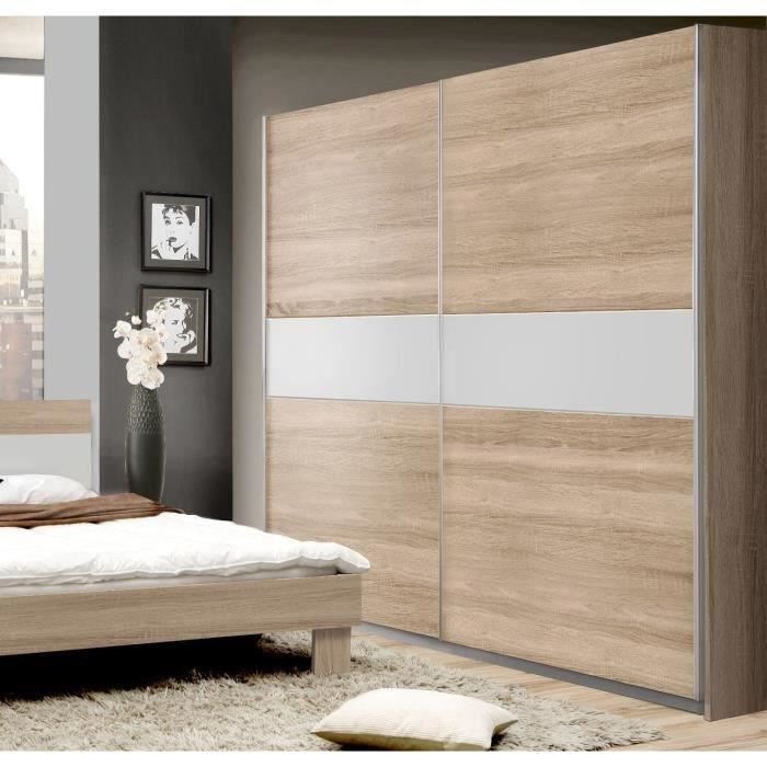 goldstar armoire chene et blanc 221 x 210 cm vendu par cdiscount 265449. Black Bedroom Furniture Sets. Home Design Ideas