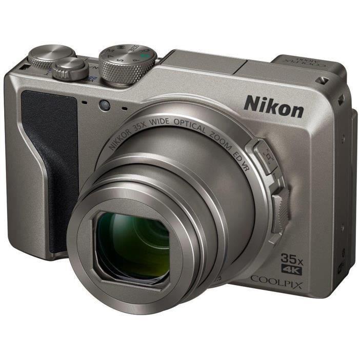 NIKON COOLPIX A1000 Appareil photo compact 16Mp CMOS 35x, 3.0- 1036k Tilt TP, 4k, EVF - Argent