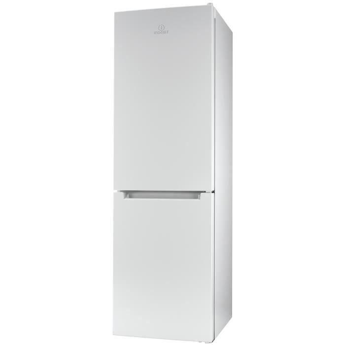 INDESIT LR9 S1Q F W - Réfrigérateur combiné-368L (257L + 111L)-Froid brassé réfrigérateur-Statique congélateur-A+-L60xH200cm-Blanc