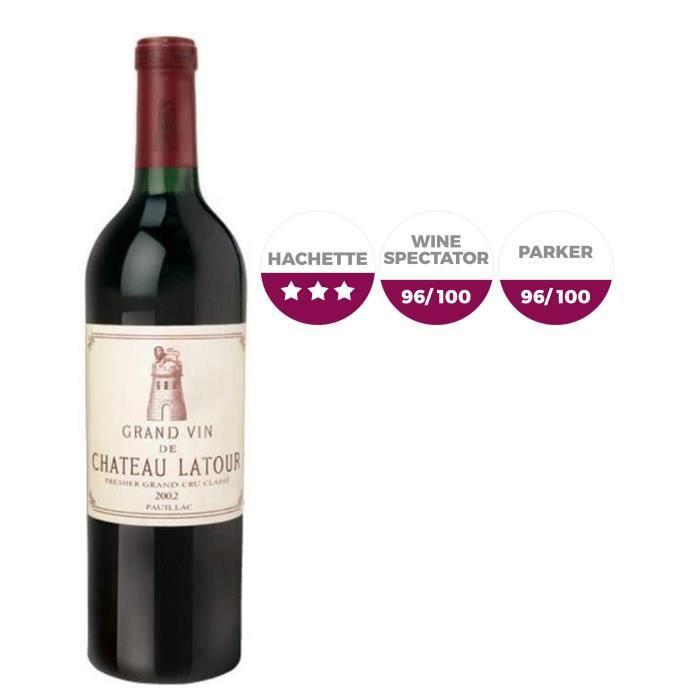 Château Latour 2002 Pauillac - Vin rouge de Bordeaux