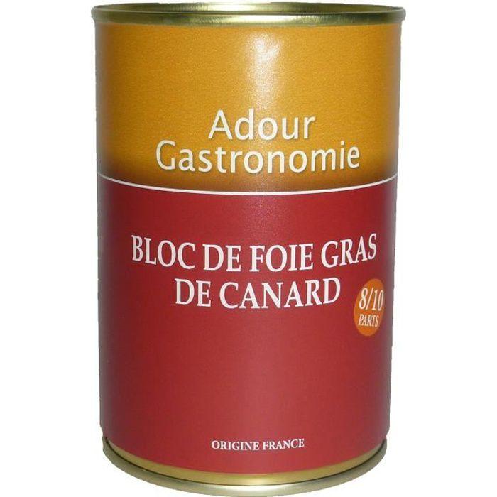 ADOUR GASTRONOMIE Bloc de Foie Gras de Canard 400g