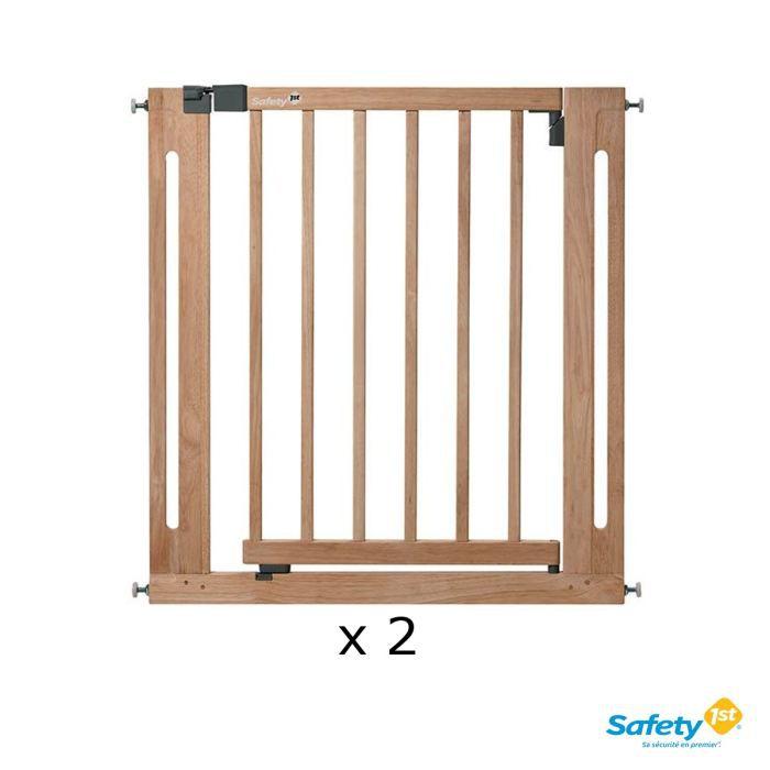 SAFETY 1ST Pack 2 Barrières de sécurité Easy close Bois